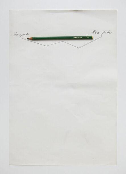 Vlado Martek, 'Der Flug von Zagreb nach New York (The Flight from Zagreb to New York)', 1992