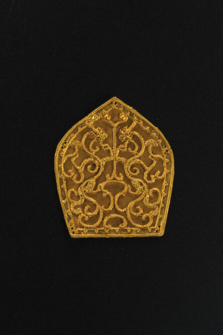 Unknown Artist, 'Gold Plaque with Double-Dragon Design', Han to Six Dynasties-2nd century BC–6th century AD