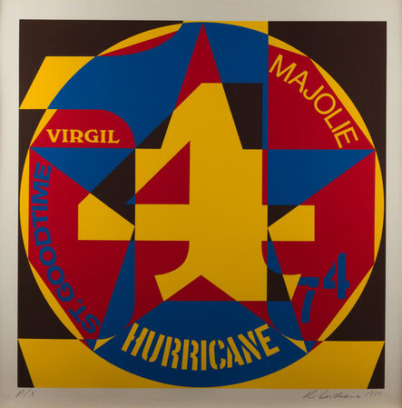Robert Indiana, 'Decade: Autoportraits, Vinalhaven Suite #4: Hurricane', 1980