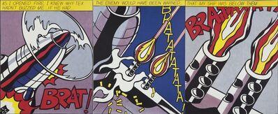 Roy Lichtenstein, 'As I Opened Fire (triptych)', 1964