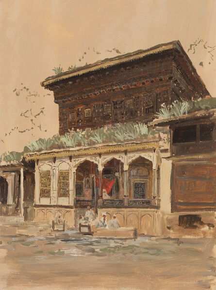 Lockwood de Forest, 'Balcony, India', ca. 1881