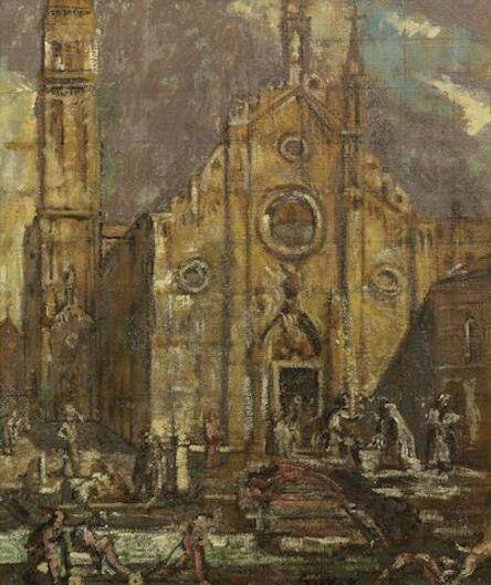 Walter Richard Sickert, 'Outside the Frari, Venice', ca. 1908