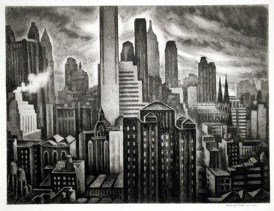 Howard N. Cook, 'Soaring New York', 1931-1932