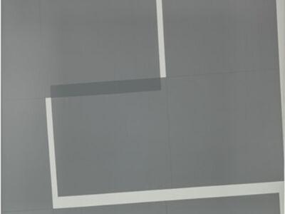 Vera Molnar, 'Carré gris scindé en deux', 2002