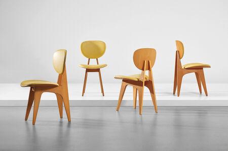 Junzo Sakakura, 'Set of four side chairs, model no. 3222', circa 1955