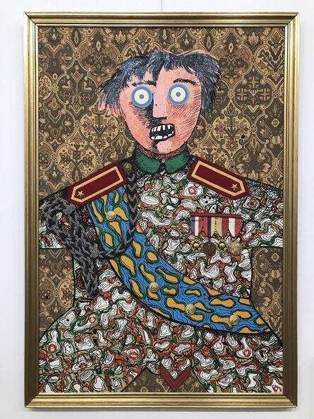 Enrico Baj, 'Le stratége militaire Sahuguet d'Amarzit d'Espagnac', 1971