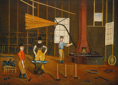 Francis A. Beckett, 'Blacksmith Shop', ca. 1880