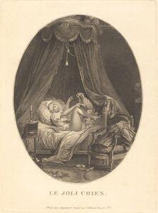 Auguste-Claude-Simon Legrand after Nicolas Lavreince, 'Le joli chien'