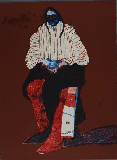 Fritz Scholder, 'Indian with Beaded Sash (Suite Fifteen)', 1975