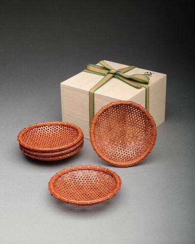 Isohi Setsuko, 'Set of Five Clematis-patterned Trays', 2018