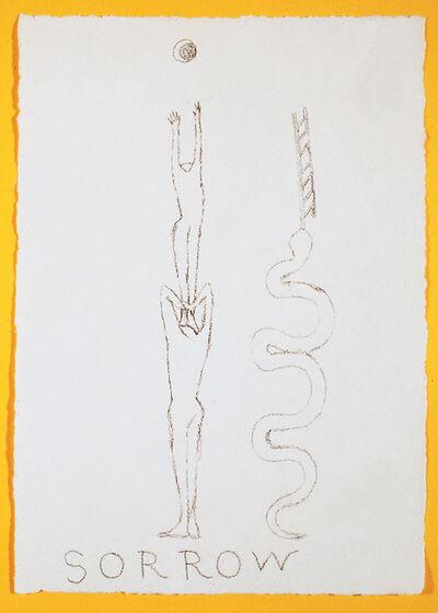 Francesco Clemente, 'Sorrow (for Parkett 40)', 1994
