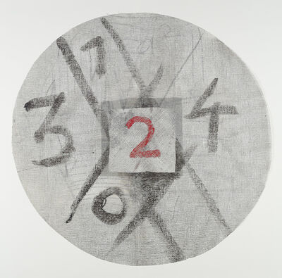 Daniel Dezeuze, 'Gaze découpée et peinte', 1977