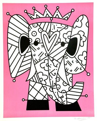Romero Britto, ' Pink Elephant (Ed No.163)', 2020