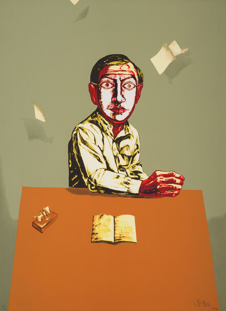 Zeng Fanzhi 曾梵志, 'Sitting Man, from Mask Series', 2006