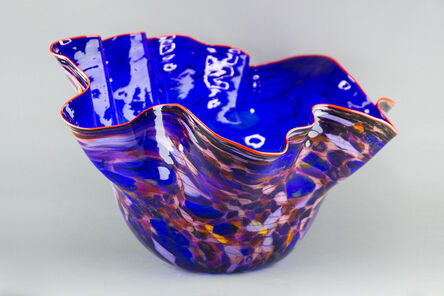 Dale Chihuly, 'Royal Blue Macchia with Para Red Lip', 2002