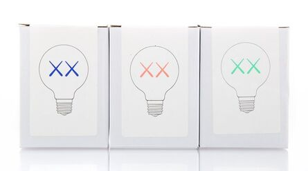 KAWS, 'Light Bulb Set (Red, Purple, and Green), for The Standard', 2011