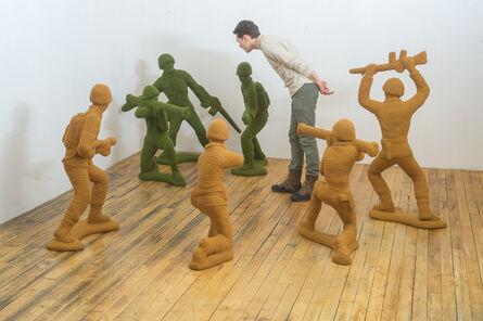 Nathan Vincent, 'Green and Tan Army Men', 2015