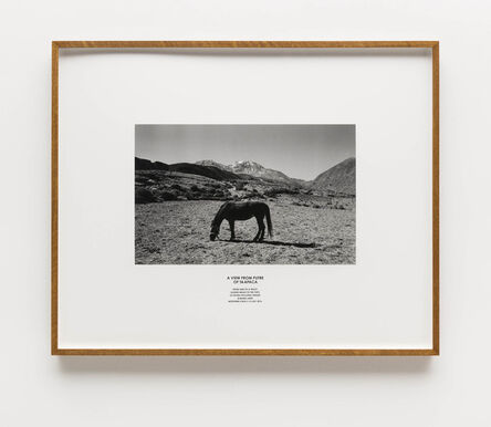Hamish Fulton, 'A view from Putre of Taapaca. From and to a truck guided walks to the tops of seven volcanic ridges Aymara Land. Northern Chile', 2016