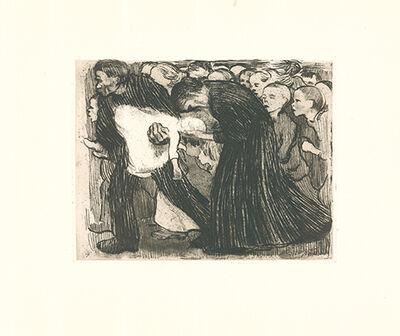 Käthe Kollwitz, 'Überfahren', 1910