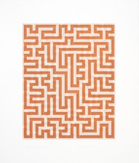 Anni Albers, 'Red Meander II', 1