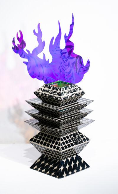 Roxana Azar, 'Warrior's Ritual Vessel with Flame II', 2020