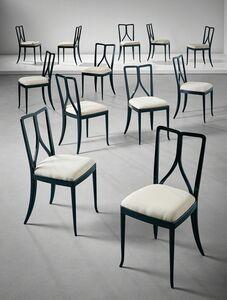 Guglielmo Ulrich, 'Set of twelve dining chairs', ca. 1940
