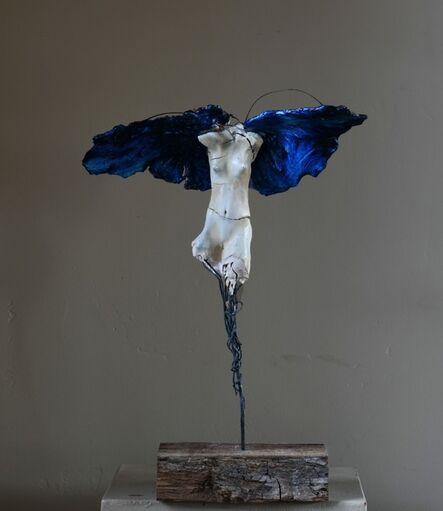 Carl Dahl, 'White Angel Blue wings #2', 2020