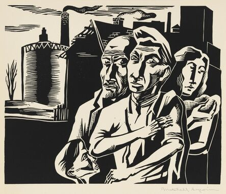 Mitchell Siporin, 'Workers Family, from the portfolio A Gift to Biro-Bidjan', 1937