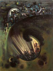 Emil Bisttram, 'Dark Star', 1956