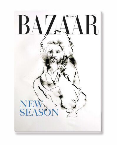 Yves Hayat, 'Encres sur presse - Harper's Bazaar avec petite fille', 2016