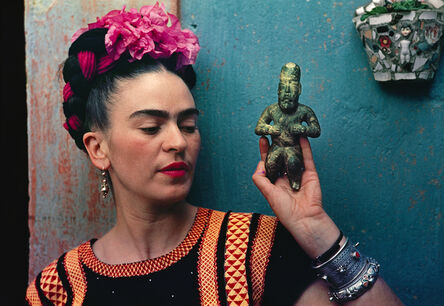 Nickolas Muray, 'Frida Kahlo with Olmec figurine', 1939