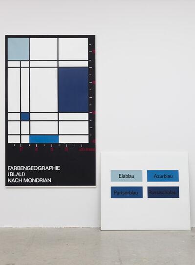 KP Brehmer, 'Farbengeografie (Blau) nach Mondrian, unique', 1973/74