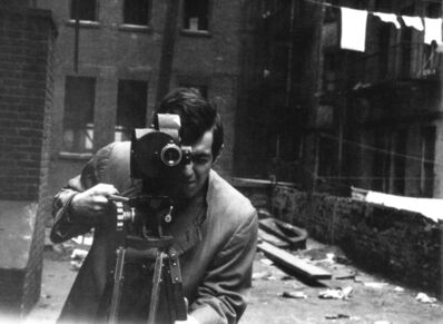 Alexander Singer, 'Stanley Kubrick with his 35mm Eyemo camera on the set of Killer's Kiss ', 1955