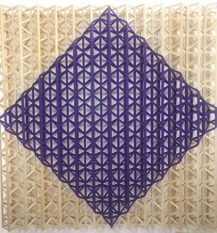 Rasheed Araeen, 'Jaamni Two (purple two)', 2015