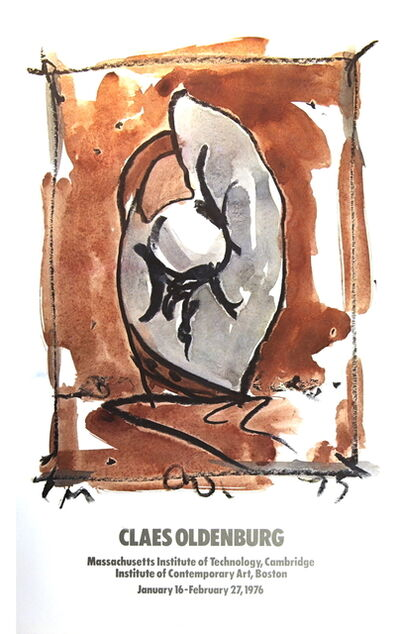 Claes Oldenburg, 'Study For Standing Baseball Mitt and Ball', 1976