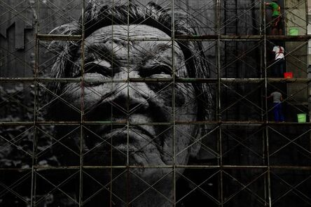 JR, 'The Wrinkles of the City, Action in Shanghai, Shi Li, work in progress, Chine', 2010