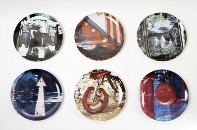Robert Rauschenberg, 'Guggenheim Museum Retrospective Limited Edition Set of 6 Plates', 1997