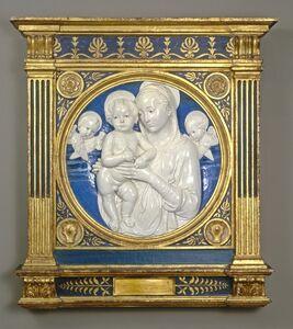 Andrea della Robbia, 'Madonna and Child with Cherubim', ca. 1485