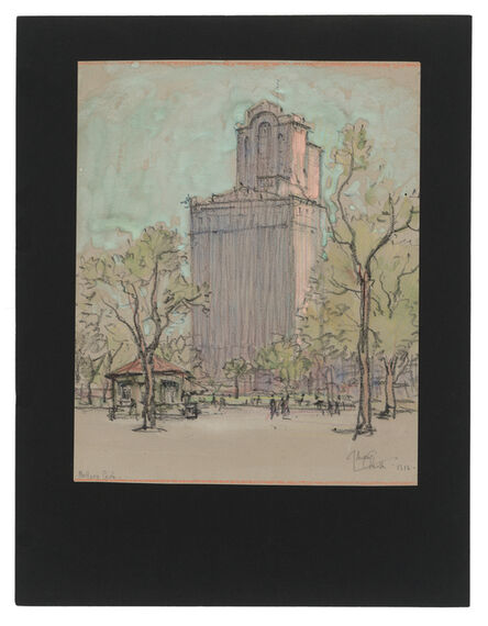 Jules Andre Smith, 'A View of Battery Park with the Whitehall Buildings (1904 and 1910)', 1916
