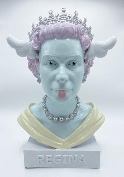 D*Face, 'Queen Bust Silver', 2021