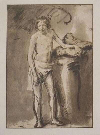 Rembrandt van Rijn, 'Life Study of a young man standing', 1930