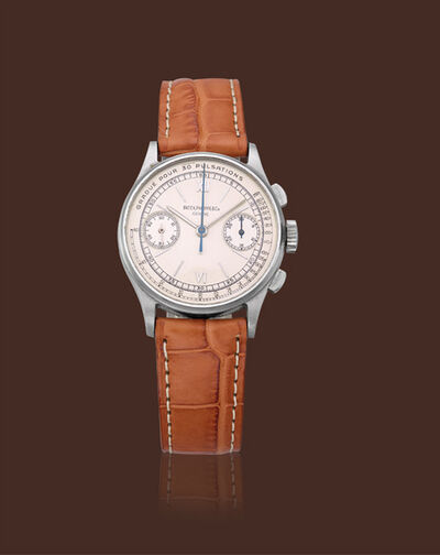 Patek Philippe, 'Stainless steel, ref. 130 chronograph medical scale dial'