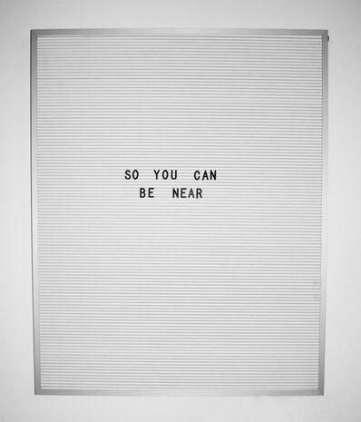 Nicole Reber, 'Near', 2016
