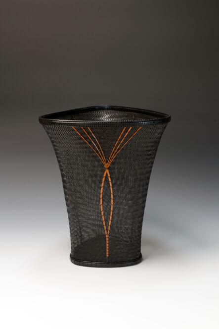 Tanaka Kyokusho, 'Twill Plaited Jomon-style Flower Basket', 2015