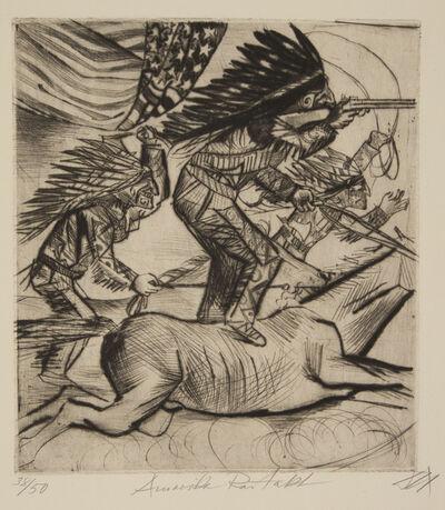 Otto Dix, 'American Riding Act', 1922
