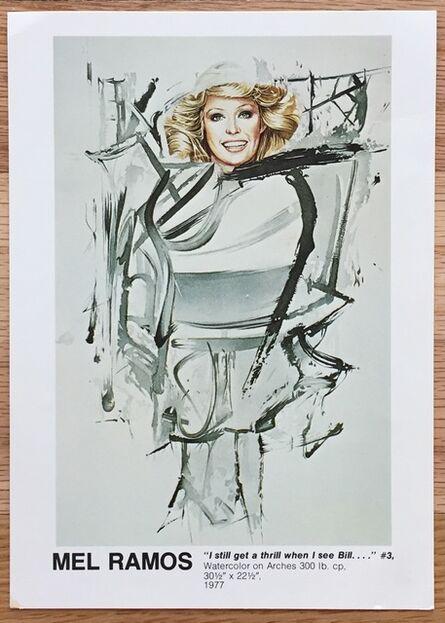 Mel Ramos, 'Signed Exhibition Postcard', 1977