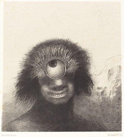 Odilon Redon, 'Le Polype difforme flottait sur les rivages, sorte de cyclope souriant et hideux (Thedeformed polyp floated on the shores, a sort of smiling and hideous Cyclops', 1883