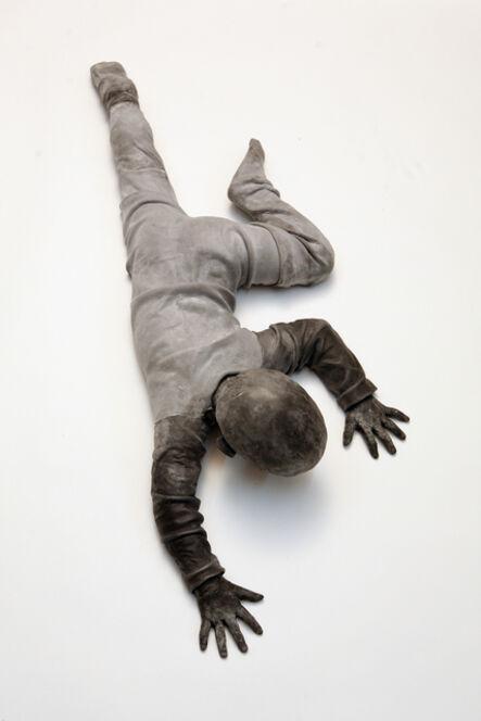 José Cobo, 'Child turning crawling down the wall'