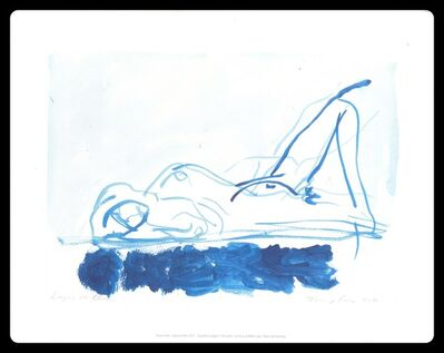 Tracey Emin, 'Laying on Blue', 2011