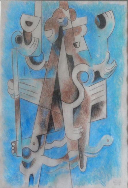 Carlos Merida, 'Proyecto para carpeta de serigrafias: Canto al libro sagrado.', 1978